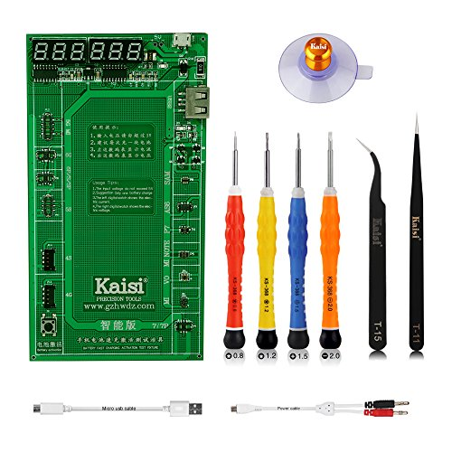 Kaisi Battery Tester Battery Activation Charge Borad Compatible IP 7 7P 6S 6Plus 5S 5, iPad Mini, iPad Air, and Huawei Samsung Galaxy Xiaomi, Oppo, VIVO and Almost Android System Smartphones by Kaisi