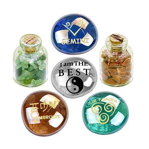 Ancient Zodiac Gemini Yin Yang Powers Birthstones Green