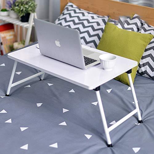 DKZK Mesa para Notebook, Dormitorio con Escritorio PequenO, Cama con Mesa para Laptop, Mesa Plegable, Soporte para Laptop para Dormitorio PequenO, Mesita De Noche, Escritorio De Regazo
