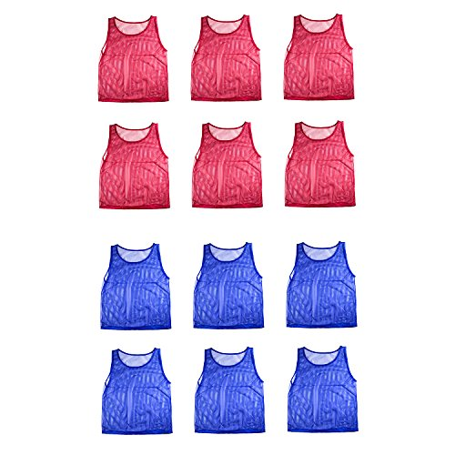 b13c828e2 50%OFF Nylon Mesh Scrimmage Team Practice Vests Pinnies Jerseys for  Children Youth Sports Basketball