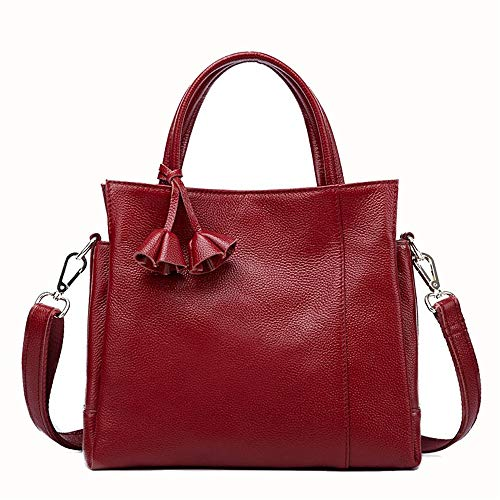 Almacenamiento Shoulder asas La Color Bags Messenger de seoras La Commuter Rojo bolsa negra femenino Hobo Crossbody Vino las asas de femenino Henger bolsa para Bag de de mujer para Rojo mujer Totes T6fgqTr