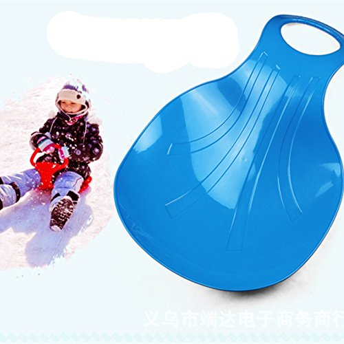 Winter Toys for Use on Snow and Grass e-joy Kids Snow Scooter Ski Scooter Fold-up Snowboard Sledge Folding Sliding Ski Snowboard with Grip Handle Snow Sled