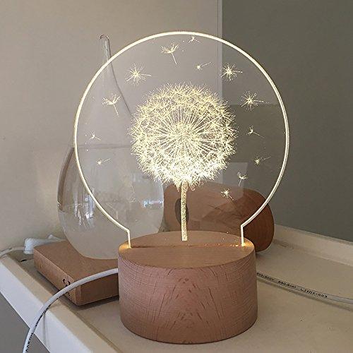 HACASO Cargador USB 3D Acrílico Luz Nocturna Caja Musical Lámpara de Mesa Regalo perfecto para Navidad y cumpleaños,...