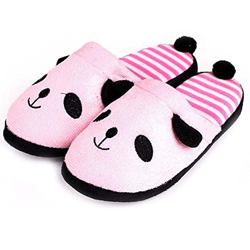 Bella Panda Cartoon Pantofole Inverno Caldo Scarpe Interne Rosa