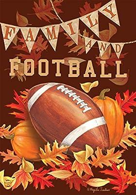 "Family & Football Fall Garden Flag Autumn Sports Game Day 12.5"" x 18"""