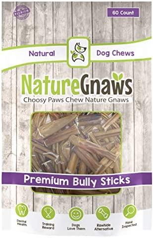 Nature Gnaws Small Bully Stick Bites 2-3 inch – 100 Natural Beef Dog Chews