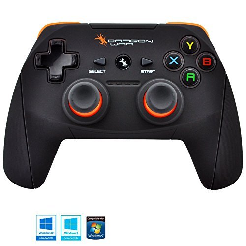 Dragonwar Shock Ultimate 17 Key Wireless Computer Game Controller Gamepad with Full Vibration For PC, Compatible with Windows 10 (Best Budget Gaming Mouse Philippines)
