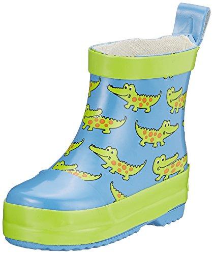Playshoes Unisex-Kinder Krokodil Naturkautschuk Gummistiefel Blau (Blau)