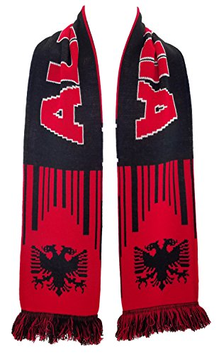 National Soccer Team Albania Scarf, Red, One Size
