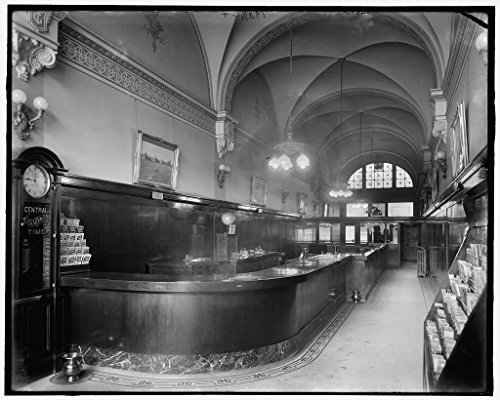 - Vintography 16 x 20 Ready to Hang Canvas Wrap Grand Trunk Western Railroad Ticket Office Detroit Mich 1910 Detriot Publishing 73a