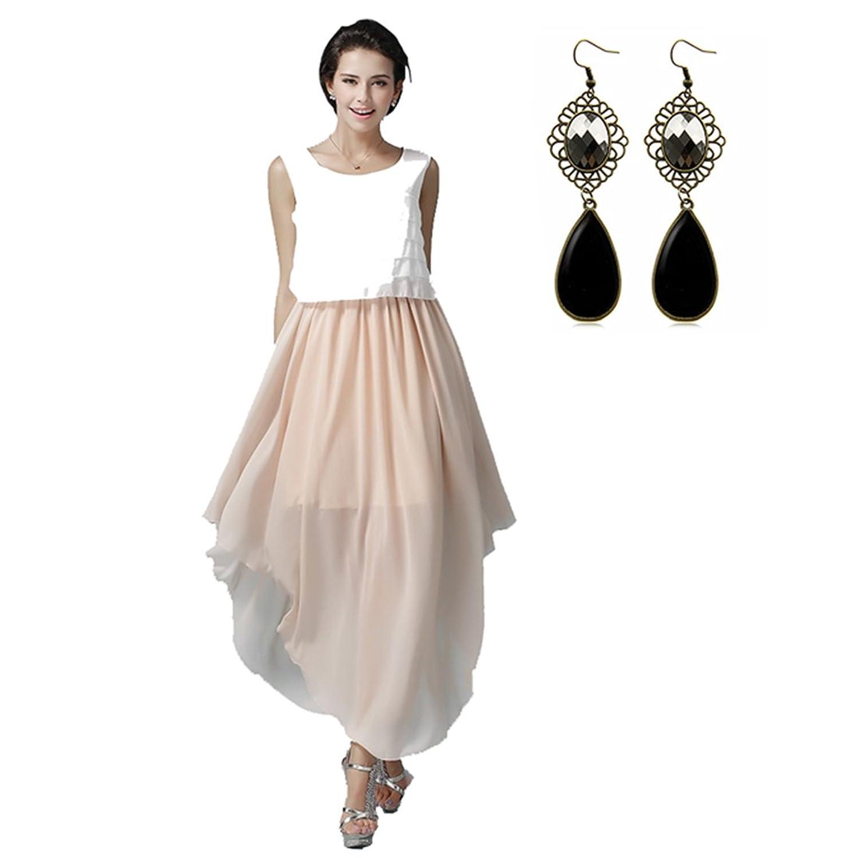 Sitengle Damen Abendkleider Chiffon Elegant Asymmetrisch Ballkleider Brautjungfern Maxikleider