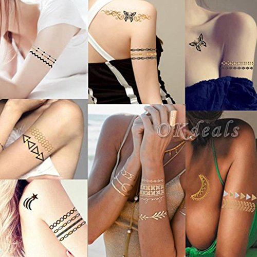 Bigood Colorful Nontoxic Double Wing Temporary Tattoo Sticker Paster by Bigood (Image #8)