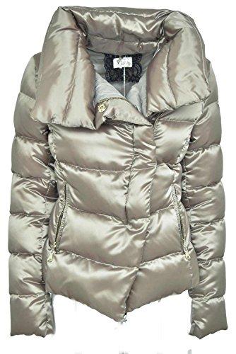 Ladies Jacket VLab Beige Lustrous Down Goose Beige Satin ZOq554x