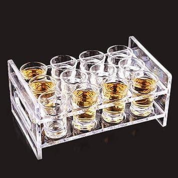 Chang lesu 12 agujeros redondos Liquor Cup Rack acrílico 3 ...