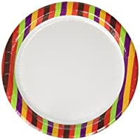Concept Party Products CPPL48RB 48 Count Coated Paper Dessert Plates, Rainbow