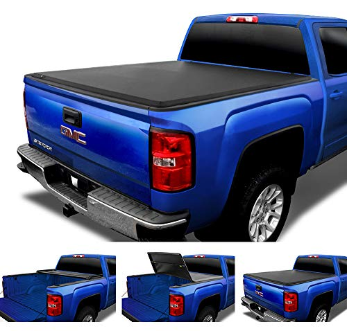 Tyger Auto T3 Tri-Fold Truck Tonneau Cover TG-BC3C1006 Works with 2014-2019 Chevy Silverado/GMC Sierra 1500 | Fleetside 5.8' Bed | for Models Without Utility Track System
