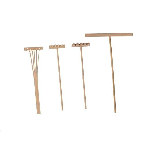 HALLILY - Set de herramientas de jardín (madera, incluye ...