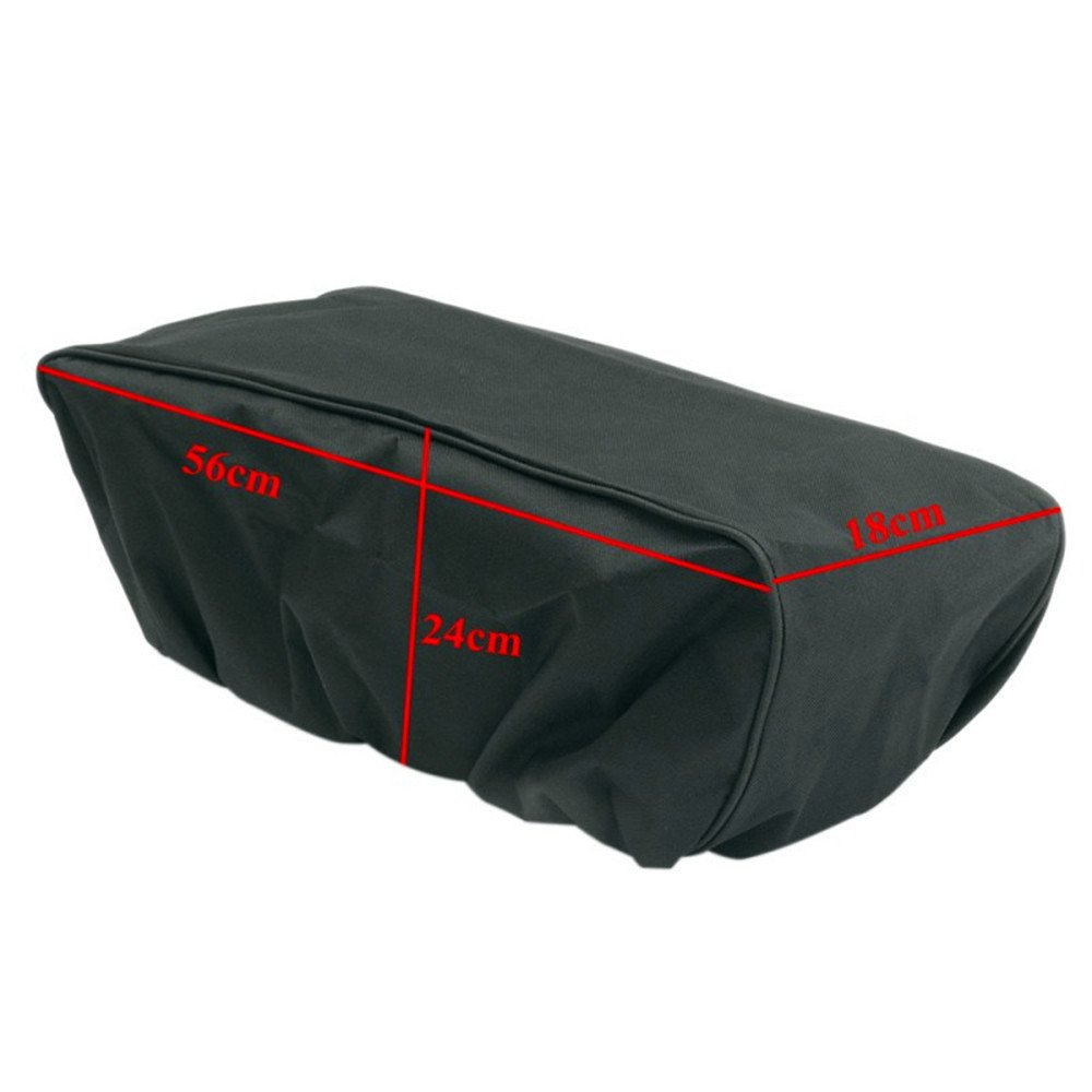 Xbes 600D Winch Cover,Waterproof Winch Dust Cover Driver Recovery 8,500 to 17,500 Pound Capacity Black CA0021