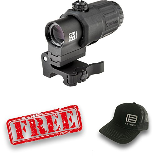 Eotech G33.STS Magnifier with Switch to Side Mount 3x Red Dot Reflex Sight With free hat by EOTech