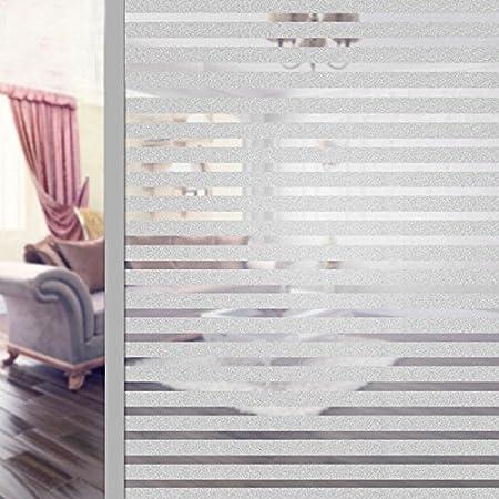 Lzndeal 200 X 60cm Film De Fenetre Film De Fenetre De Confidentialite Film Depoli Protection De La Vie Privee Pour Bureau Maison Salle De Bain Chambre Cuisine Toilette Wc Amazon Fr Bricolage