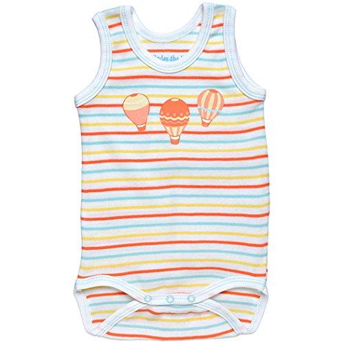 Under the Nile Organic Unisex-Baby Summer Babybody (nb-3m, Balloon (Summer Cottage Stripe)