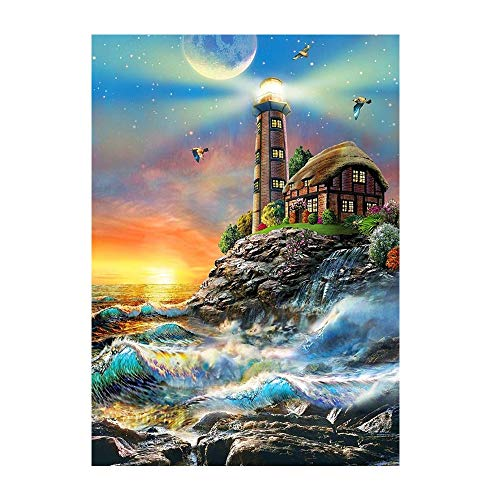 GMYANZSH Diamond Painting DIY 5D Scenic Diamond Mosaic Painting Handmade Craft Full Square Mountain Castle Diamond Embroidery Unfinished Home Decor