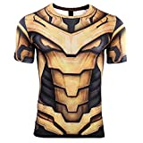 Superhero Cosplay Compression Shirt Sports Shirt Men's Fitness Tee Gym Top XL