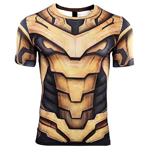Superhero Cosplay Compression Shirt Sports Shirt Men's Fitness Tee Gym Top 2XL