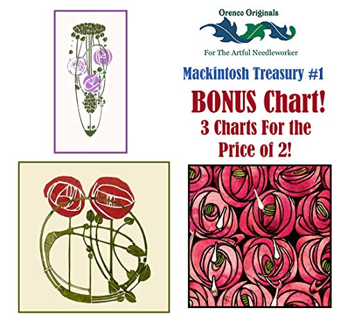 Charles Rennie Mackintosh Deluxe Treasury #1-3 Counted Cross Stitch Patterns ()