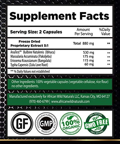 ZuluTEST All Natural Testosterone Booster for Men - Organic Strength Supplement - Mood, Energy Muscle Growth Booster - Natural Estrogen Blocker, Aromatase Inhibitor Belly Fat Burner - 84 Capsules