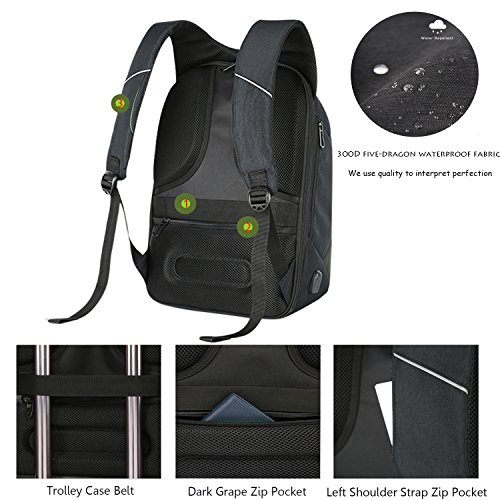 a20c3cdb3326 Chikencall Anti-theft Travel Backpack 16' Laptop Bag with USB ...
