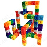 AWESOME Unlimited Creation Cubes 100 Piece Snap Cubes Mathlinks Cubes Unit Cubes Centimeter Cubes Math and Interlocking Building Set - Kids Safe Material! Lab Test Approved with ATC Certificate!