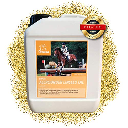 EMMA ? Leinöl für Pferde & Hunde I Sparset I Pferdefutter I Ergänzungsfutter I Omega 3-6 Fettsäure im Öl I kaltgepresst Vitam