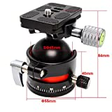koolehaoda E3 mini Tripod Head Ballhead with Quick Release Plate. Big sphere:SΦ45MM,Maximum load: 20KG (E3-ballhaed)