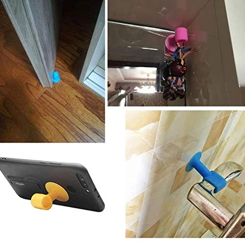10Pcs Doorknob Wall Mute Crash Pad Cushion Cabinet Door Handle Lock Silencer Attached Silicone Anti-collision House Door Stopper Random Color
