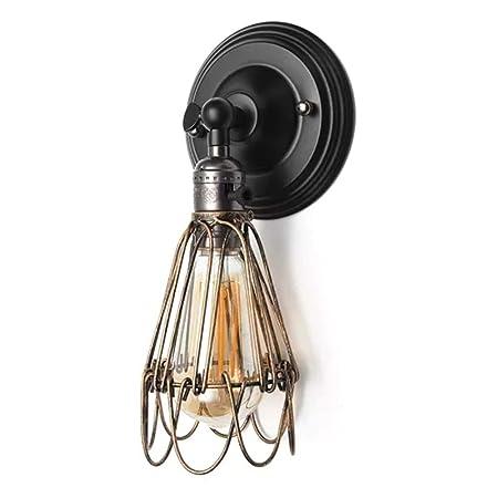 HHS Megan-NS Lámpara de Pared Retro Jaula Ajustable lámpara de ...