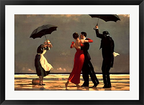 The Singing Butler, c.1992 by Jack Vettriano Framed Art Print Wall Picture, Black Frame, 36 x 27 inches