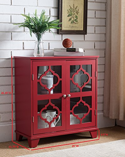 Kings Brand Furniture Red Finish Wood Buffet Cabinet Console Table by Kings Brand Furniture (Image #2)