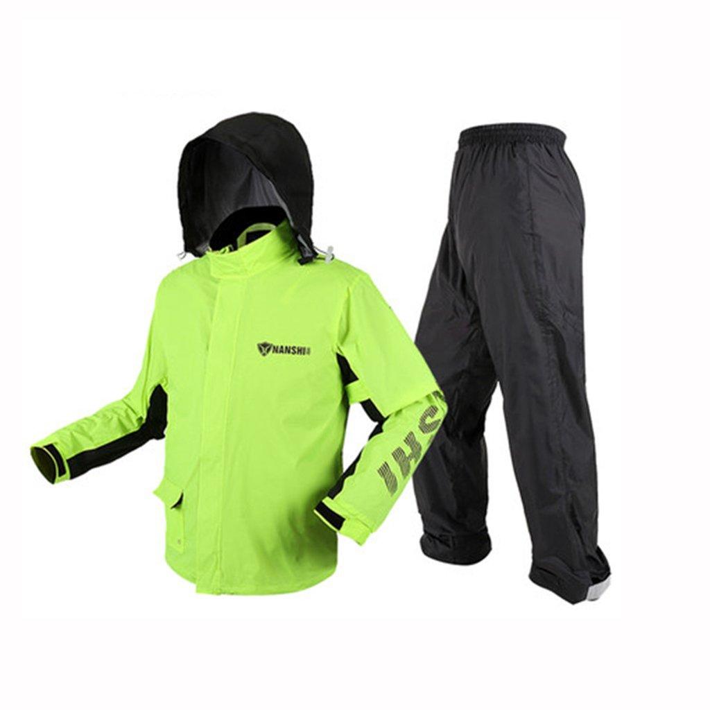 vert1 X-grand GXYGWJ Veste imperméable pour Homme et Femme, Pantalon de Costume, Veste imperméable de Moto imperméable (Couleur   bleu, Taille   S)