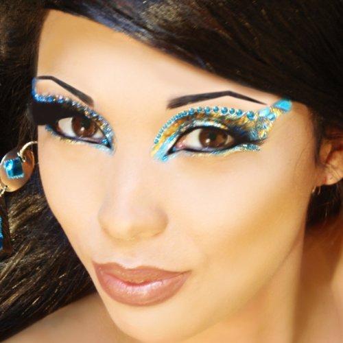 Pheonix Eye Art Jewels Fake Eyelashes Professional Temporary Eye Make Up Kit Xotic Eyes by - Pheonix Malls