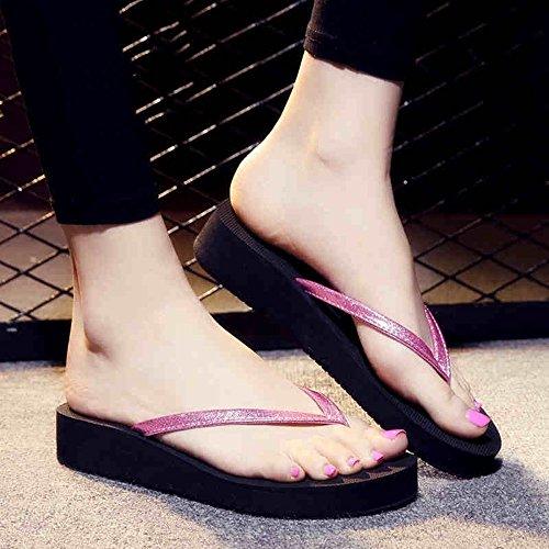 Antiscivolo Fei Da Pantofole Per rosa Nero Argento Donna Rosa Summer Casual Blu 38 L'esterno Sandali Ciabatte Oro colore Misura dqpw5Xgp