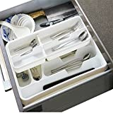 2-Tier Utility Drawer Kitchen Cutlery Utensil Tray Storage Organizer