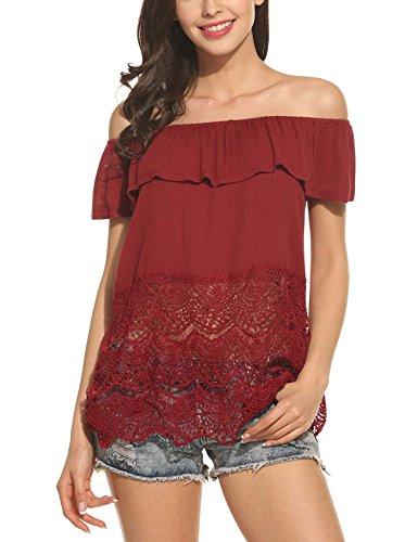 ANGVNS Casual Summer Shoulder Shirts
