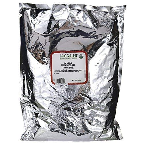 One 1 lb. Frontier Bulk Comfrey Leaf, Cut & Sifted, Certified Organic