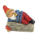 Garden Gnome Statue – Gideon the Garden Gnome Welcome Sign – Lawn Gnome For Sale