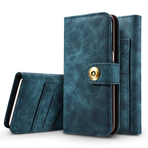 Case iPhone 6 Plus Wallet Cover,TYoung 2 in 1 Set Premium PU Leather Detachable Magnetic Wallet Case Shockproof Anti-Scratch Cover with Card Slot for Apple iPhone 6 Plus / 6S Plus 5.5