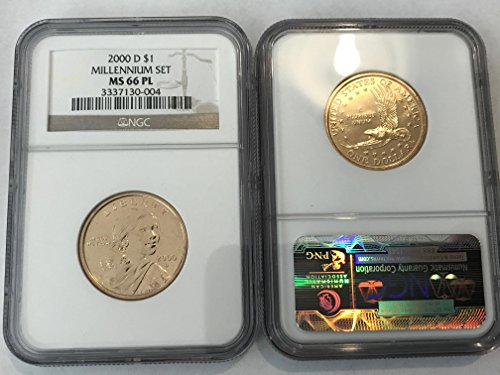 2000 D Sacagawea Dollar (Sacajawea) MILLENNIUM SET RARE PROOF-LIKE (PL) $1 MS-66 NGC PL