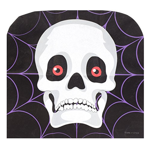 Spooky Halloween Chair Covers - Set of 4 (Skull)