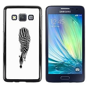 Exotic-Star ( White Black Minimalist Stripes ) Fundas Cover Cubre Hard Case Cover para Samsung Galaxy A3 / SM-A300