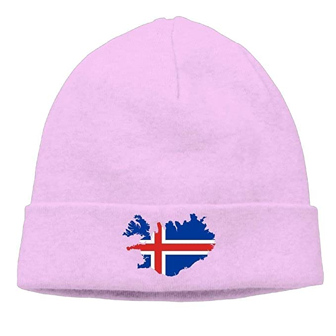 Iceland Flag Map Unisex Wool Flock Cotton Knit Winter Warm Ski Hat Beanie  Cap  Amazon.ca  Clothing   Accessories f4d6d250881